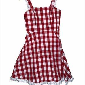 2/$50 Peta Pledger red/white gingham dress